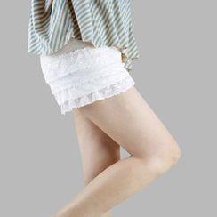 Chuba - 蕾丝多层打底短裤