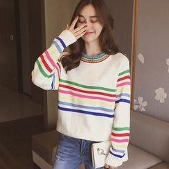 小谷粒 - 条纹毛衣