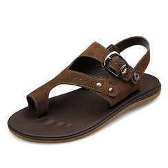 EnllerviiD - Genuine Leather Thong Sandals