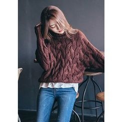 Chlo.D.Manon - Turtle-Neck Cable-Knit Top