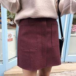 Seoul Fashion - Wool Blend Miniskirt