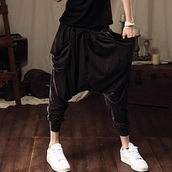 K-Style - Pocket-Accent Harem Pants