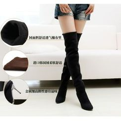 Pangmama - Heel Over The Knee Boots