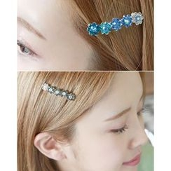 Miss21 Korea - Rhinestone Flower Hair Pin