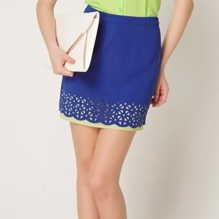 O.SA - Layered Cutout Pencil Skirt
