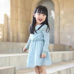 Wind Town - Kids Long-Sleeve Paneled Dress