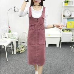 Cottony - Corduroy Pinafore Dress