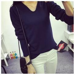 Enjoi - 纯色内抓毛长袖T恤