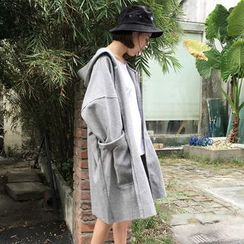 Rocho - Hooded Long Coat