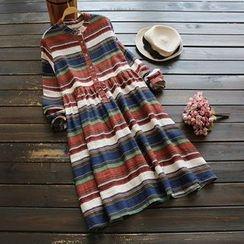 YOYO - Striped A-Line Dress