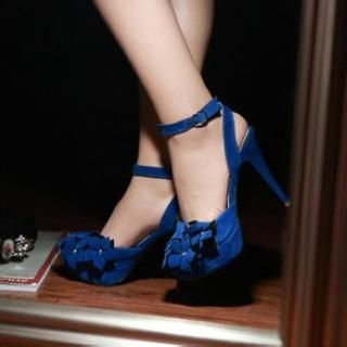 TBR - Rosette High-Heel Sandals