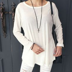 DANI LOVE - Round-Neck Long-Sleeve T-Shirt
