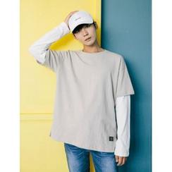 STYLEMAN - Round-Neck Layered T-Shirt