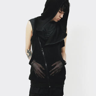 Hooded Sheer Vest