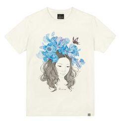 the shirts - Flower & Girl Print T-Shirt