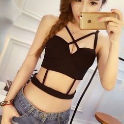 Maiden Manor - Strappy Padded Crop Top