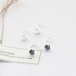 Love Generation - Rhinestone Sterling Silver Swing Earrings