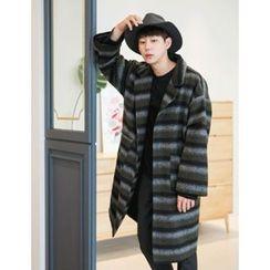 STYLEMAN - Single-Breasted Stripe Coat
