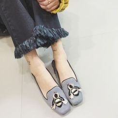 Crystella - Embroidered Loafers