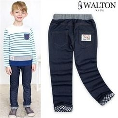 WALTON kids - Boys Band-Waist Turn-Up Hem Jeans