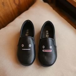 Hambu - Kids Embroidery Slip-On Casual Shoes