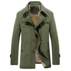 RUYA - Fleece-Lined Buttoned Jacket
