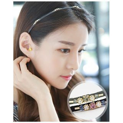 Miss21 Korea - Rhinestone Slim Hair Band
