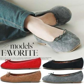Reneve - Quilted Faux-Suede Flats