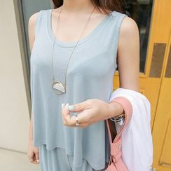 PPGIRL - Sleeveless Plain Top