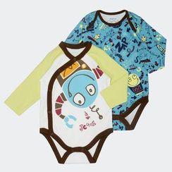 malimarihome - Baby Printed Bodysuit Set (Set of 2)