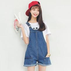 TREEZIN - Denim Jumper Shorts
