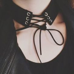Ticoo - Lace Up Choker