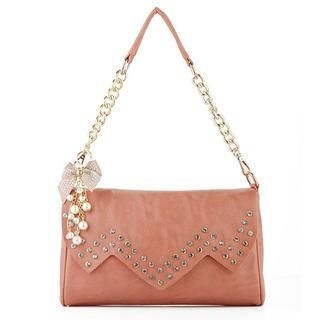 Heilin - Faux-Pearl Rhinestone Shoulder Bag