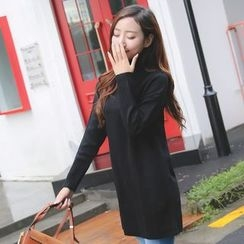 Dream Girl - Maternity Mock Neck Long Sweater