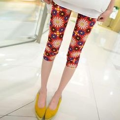 Kleggings - Daisy Print Cropped Leggings