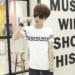 LIAN - Printed Short-Sleeve T-Shirt