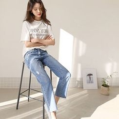 Hello sweety - Distressed Harem Jeans