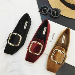 Zapatos - Faux-Suede Buckled Loafers