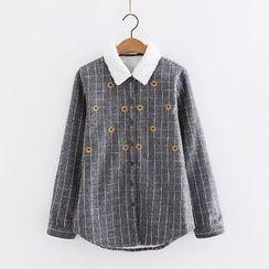 PANDAGO - Embroidered Check Shirt