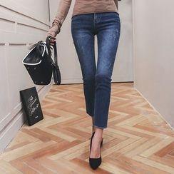 DABAGIRL - Washed Skinny Jeans