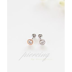 Miss21 Korea - Rhinestone Single Earring