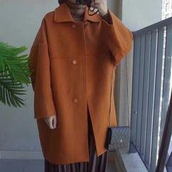 Eva Fashion - Plain Knit Coat