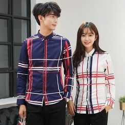 Je T'aime - Couple Matching Plaid Shirt