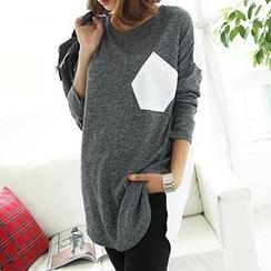 Dream Girl - Long-Sleeve Color-Block T-Shirt