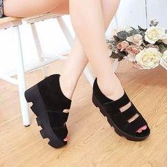 BAYO - Platform Velcro Sandals