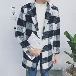 Hansler - Plaid Loose-Fit Coat