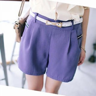 Tokyo Fashion - Zip-Accent Pleated Shorts
