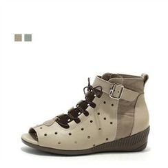 MODELSIS - Genuine Leather Perfoated Sneakers