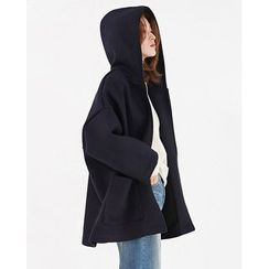 Someday, if - Hooded Cropped-Sleeve Zip-Up Jacket