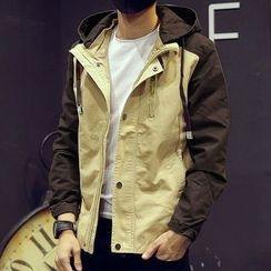Maykor Jane - Color Block Hooded Jacket